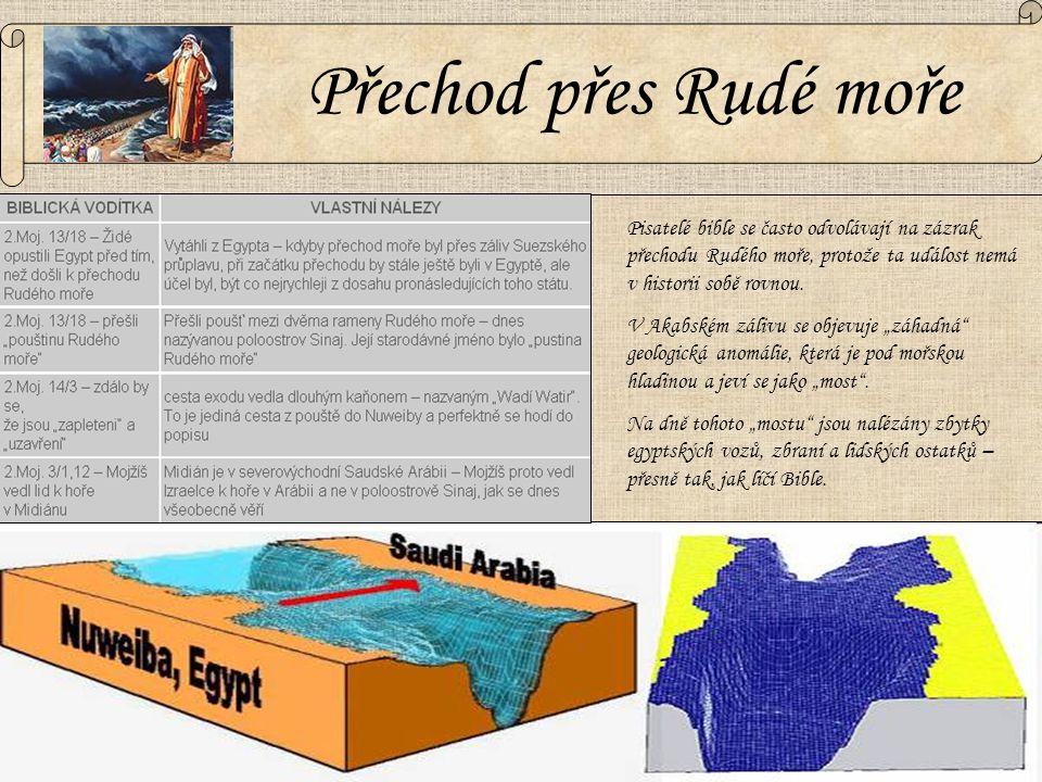 Přechod přes Rudé moře Pisatelé bible se často odvolávají na zázrak přechodu Rudého moře, protože ta událost nemá v historii sobě rovnou. V Akabském z