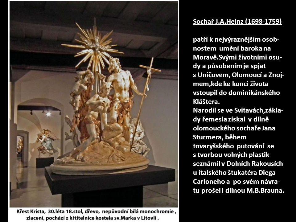 Zřejmě nejvýznamnější z vystavených prací – Ukřižovaný Kristus z roku 1733