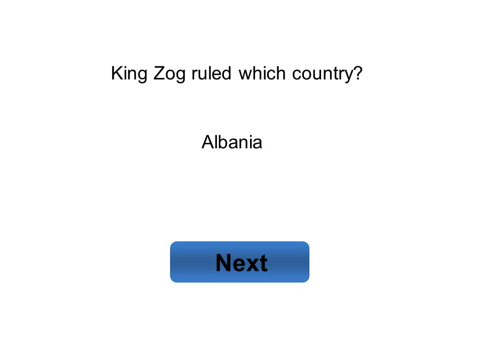 Albania Next King Zog ruled which country?