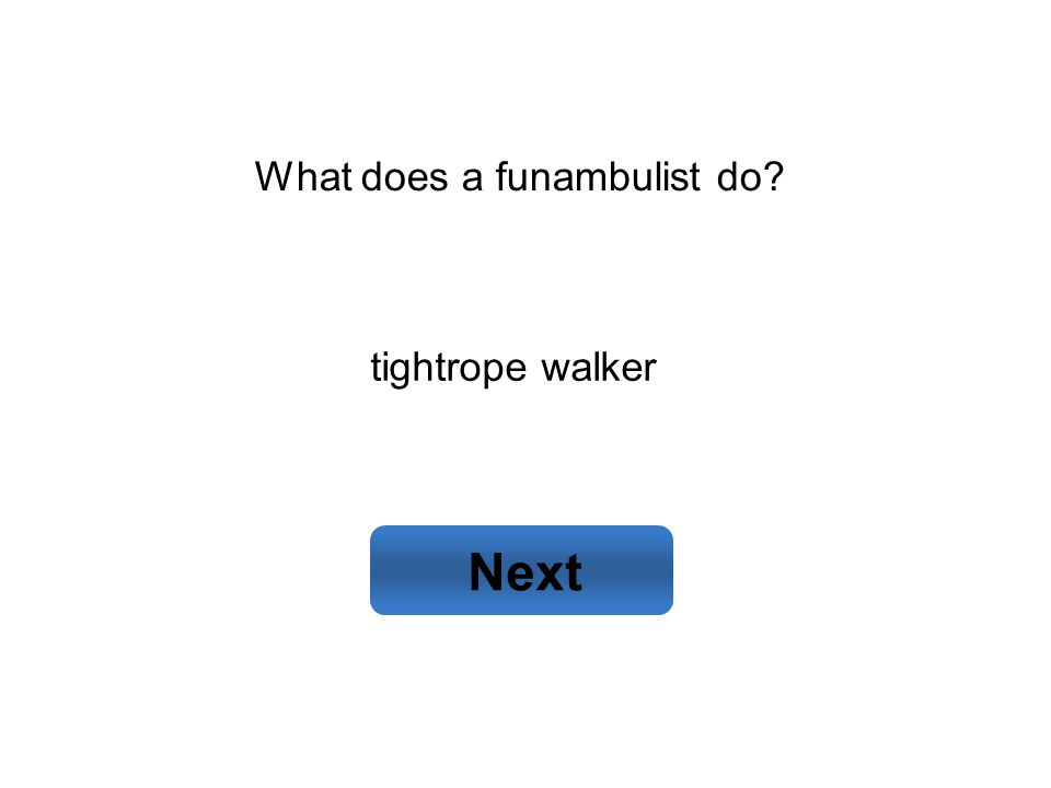 tightrope walker Next What does a funambulist do
