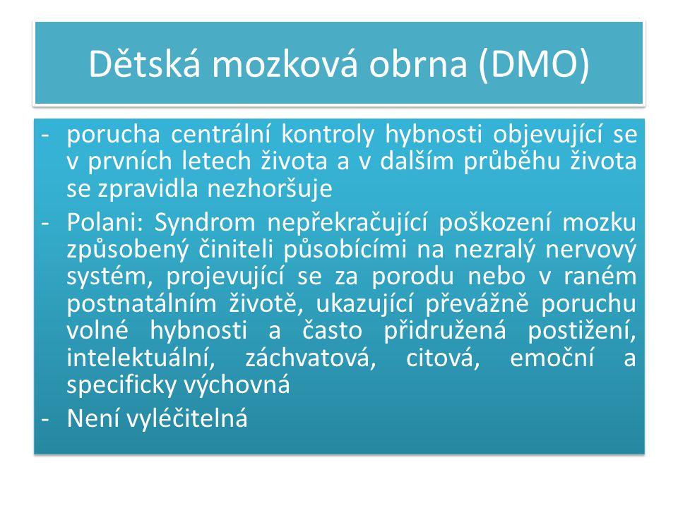 Použitá literatura  Lesný, Ivan: Dětská mozková obrna ze stanoviska neurologa, Praha, AVICENUM, 1985.