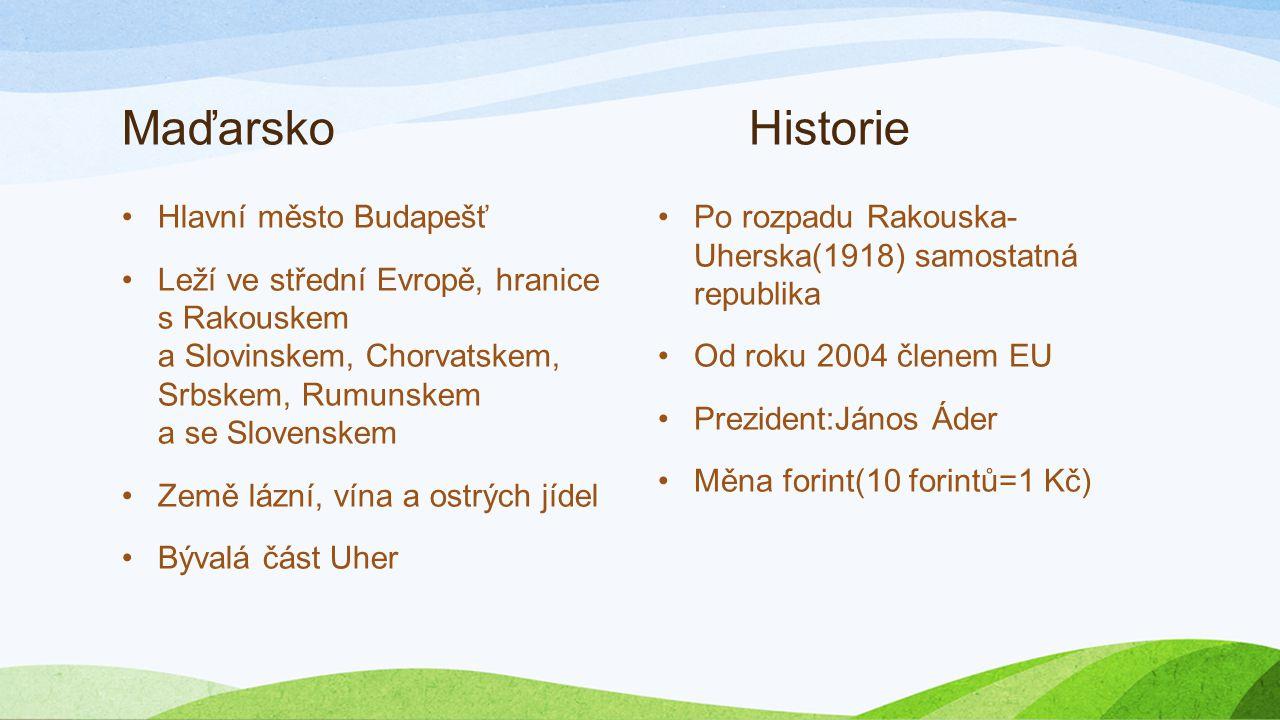 Maďarsko Prezentace
