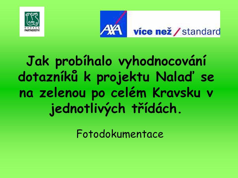 Jak probíhalo vyhodnocování dotazníků k projektu Nalaď se na zelenou po celém Kravsku v jednotlivých třídách.