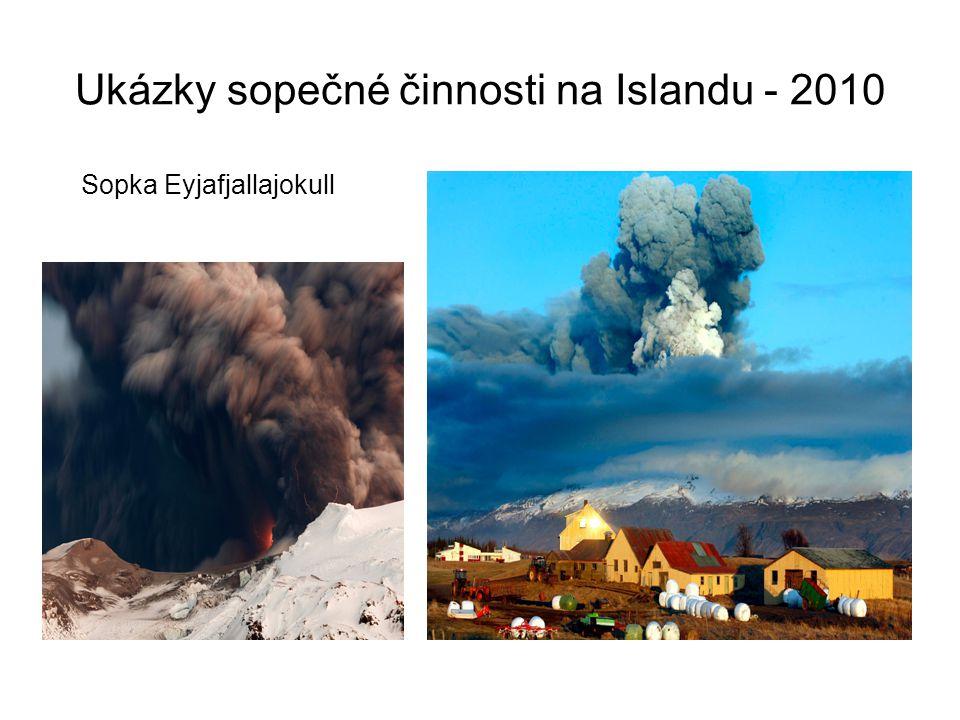 Ukázky sopečné činnosti na Islandu - 2010 Sopka Eyjafjallajokull