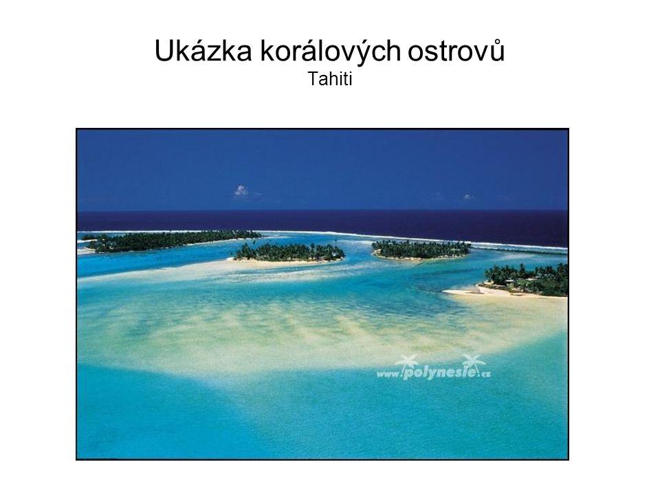 Ukázka korálových ostrovů Tahiti