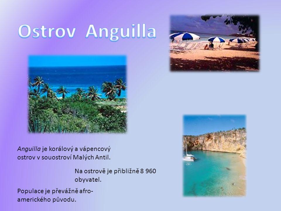 Anguilla je korálový a vápencový ostrov v souostroví Malých Antil. Na ostrově je přibližně 8 960 obyvatel. Populace je převážně afro- amerického původ