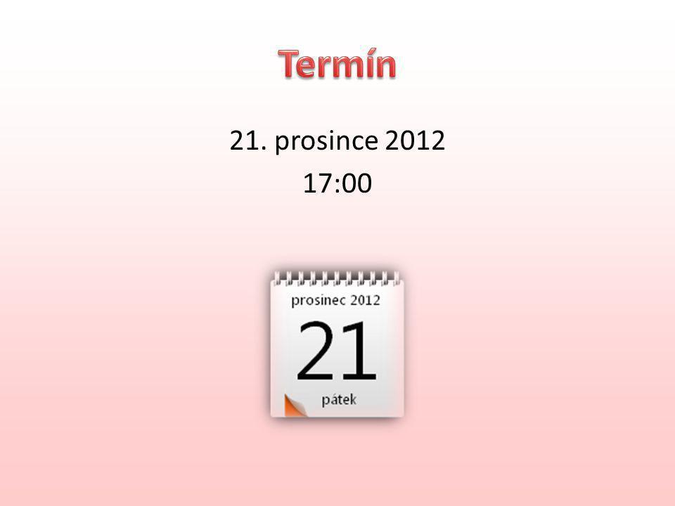 21. prosince 2012 17:00