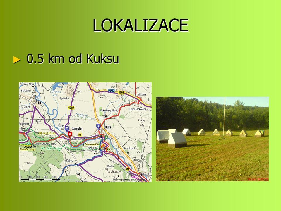 LOKALIZACE ► 0.5 km od Kuksu