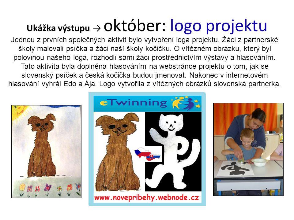 Ukážka výstupu → október: logo projektu Jednou z prvních společných aktivit bylo vytvoření loga projektu.
