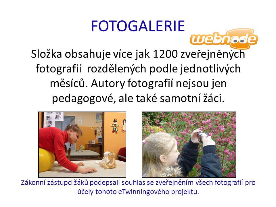 FOTOGALERIE Složka obsahuje více jak 1200 zveřejněných fotografií rozdělených podle jednotlivých měsíců.