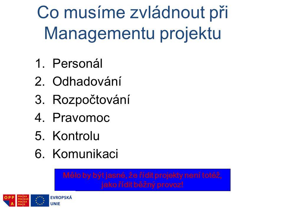 Typy projektů Investiční (tvrdé) projekty Př.