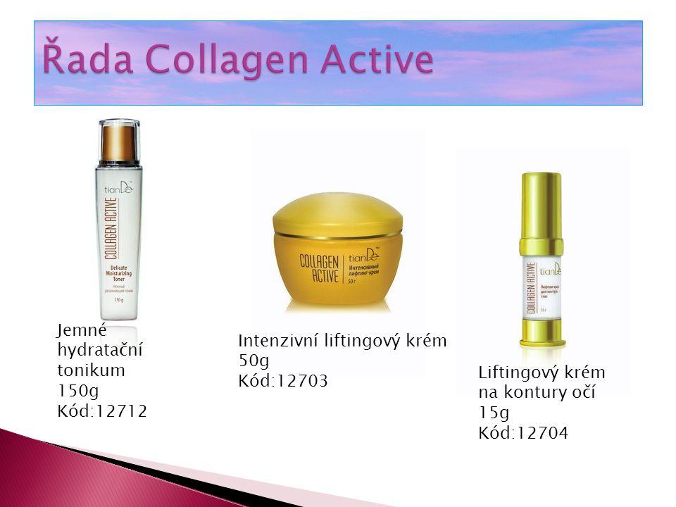 Zpevňující a liftingová na obličej a krk 100g Kód:12705 Zpevňující gel proti celulitidě 150g Kód:32708 Zpevňující esence proti rozšířeným žilkám (kuporéze) 30g Kód:12706