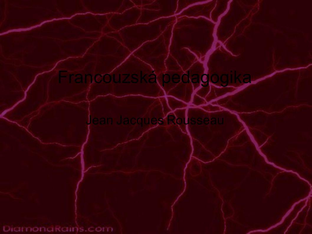 Jean Jacques Rousseau - plusy a mínusy ● bojoval za osvobození z feudálního útlaku ● byl proti fyzickým trestům ● byl proti vlivu církve na školství ● hlásal lásku a úctu k dítěti ● vedl děti k rozvoji tvořivosti a samostatného myšlení ● přátelil se se šlechtici, přijímal od nich finanční dary ● hlásal život v přírodě, ale žil v Paříži ● svých pět dětí umístil do sirotčince ● neznal osobnost dítěte - věřil, že má vždy chuť a ochotu se učit ● omezoval práva žen ● jeho představy o vývoji dítěte byly naprosto chybné