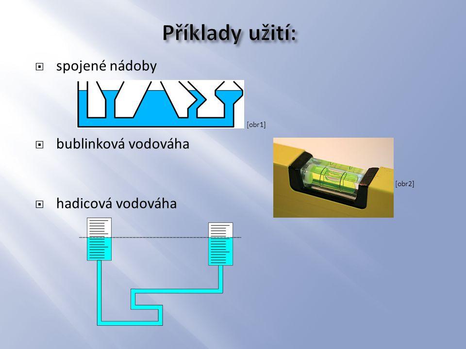  spojené nádoby [obr1]  bublinková vodováha [obr2]  hadicová vodováha