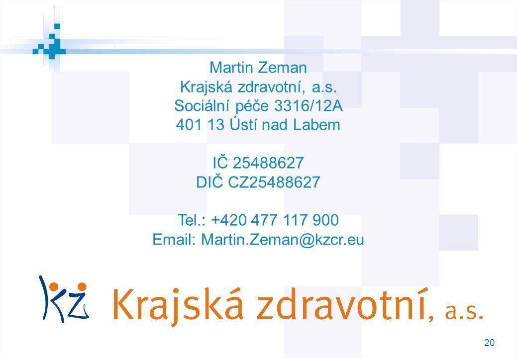 20 M Martin Zeman Krajská zdravotní, a.s.