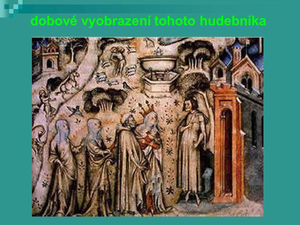 do Prahy se dostává francouzský skladatel Guillaume de Machaut