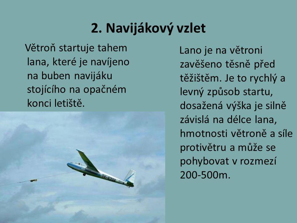 3.Vzlet pomocí gumového lana Používal se především v začátcích plachtění při startech na svahu.