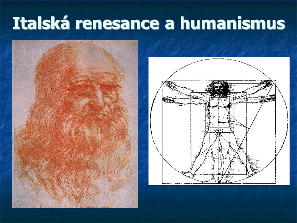 Italská renesance a humanismus