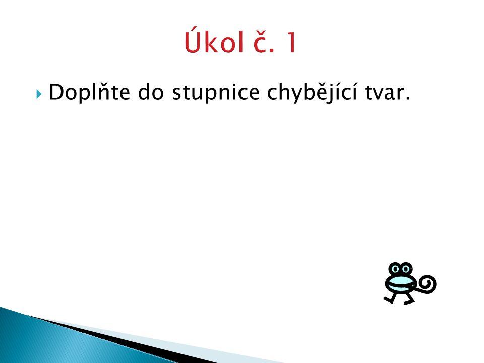 Vyhledejte ve slovníku příklady dalších sloves z jednotlivých konjugací (časujte v uvedených tvarech).