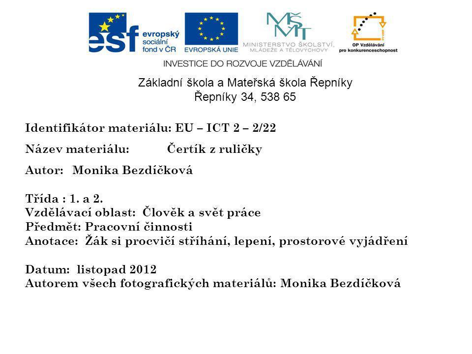 Identifikátor materiálu: EU – ICT 2 – 2/22 Název materiálu:Čertík z ruličky Autor:Monika Bezdíčková Třída : 1.