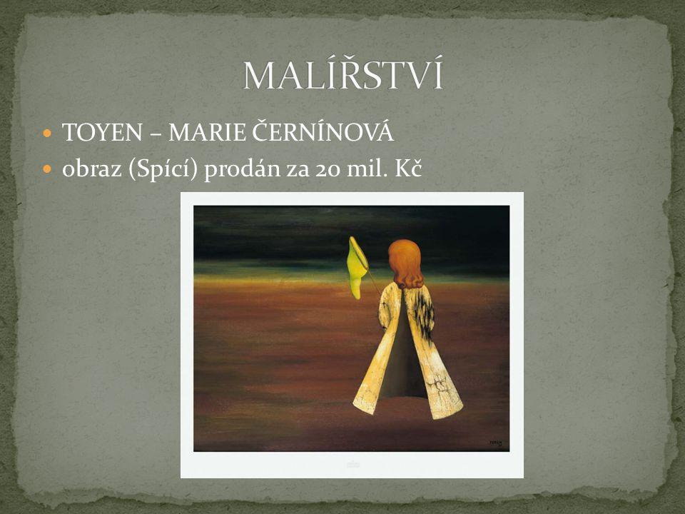 TOYEN – MARIE ČERNÍNOVÁ obraz (Spící) prodán za 20 mil. Kč