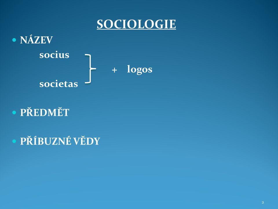 VZNIK A VÝVOJ SOCIOLOGIE PROTOSOCIOLOGIE 1.Období sociologie (pol.