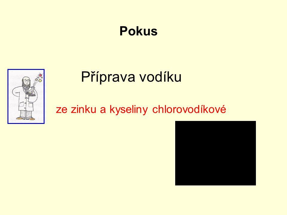 Příprava vodíku ze zinku a kyseliny chlorovodíkové Pokus