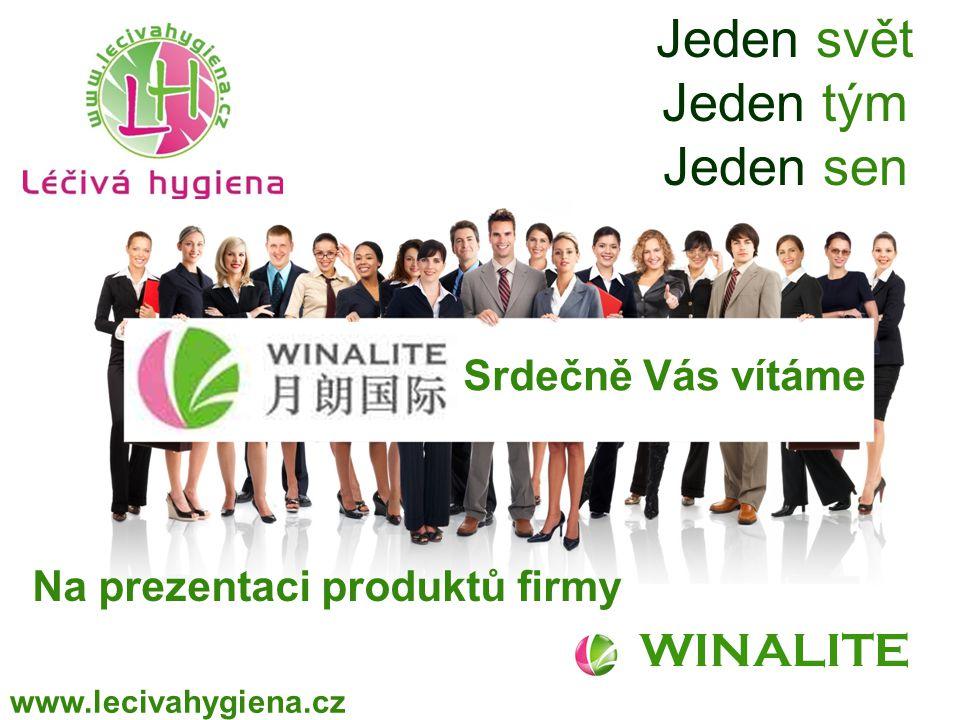 WINALITE www.lecivahygiena.cz Jeden svět Jeden tým Jeden sen Srdečně Vás vítáme Na prezentaci produktů firmy