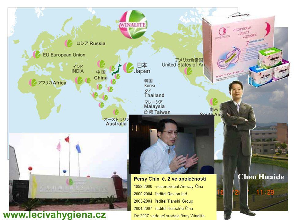 Chen Huaide Persy Chin č. 2 ve společnosti 1992-2000 viceprezident Amway Čína 2000-2004 ředitel Revlon Ltd 2003-2004 ředitel Tianshi Group 2004-2007 ř