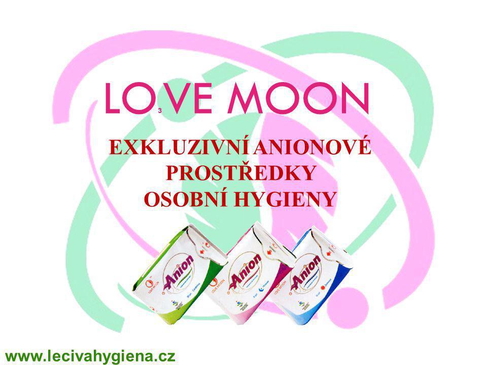 LO 3 VE MOON EXKLUZIVNÍ ANIONOVÉ PROSTŘEDKY OSOBNÍ HYGIENY www.lecivahygiena.cz