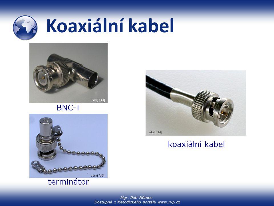 Mgr. Petr Němec Dostupné z Metodického portálu www.rvp.cz Koaxiální kabel BNC-T koaxiální kabel terminátor zdroj [15] zdroj [16] zdroj [14]