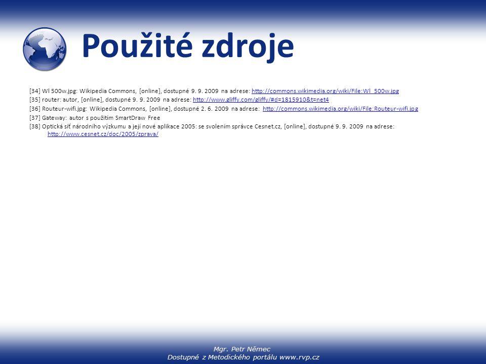 Mgr. Petr Němec Dostupné z Metodického portálu www.rvp.cz Použité zdroje [34] Wl 500w.jpg: Wikipedia Commons, [online], dostupné 9. 9. 2009 na adrese: