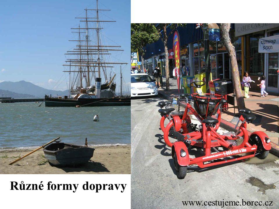 Různé formy dopravy