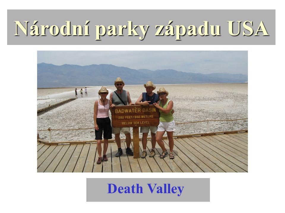 Národní parky západu USA Death Valley