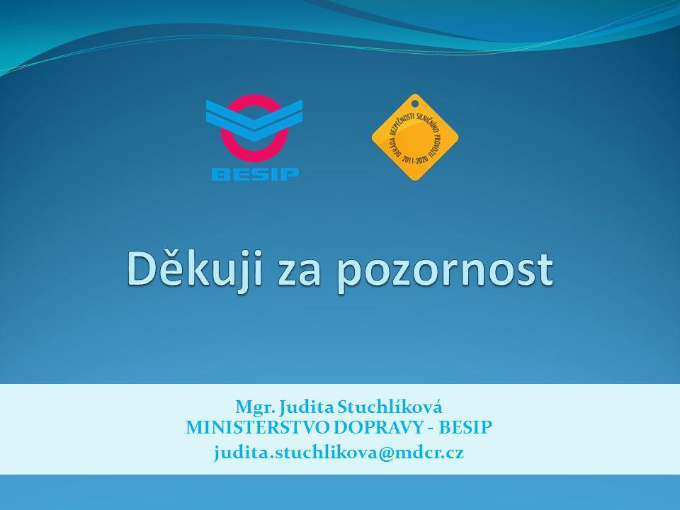 Mgr. Judita Stuchlíková MINISTERSTVO DOPRAVY - BESIP judita.stuchlikova@mdcr.cz