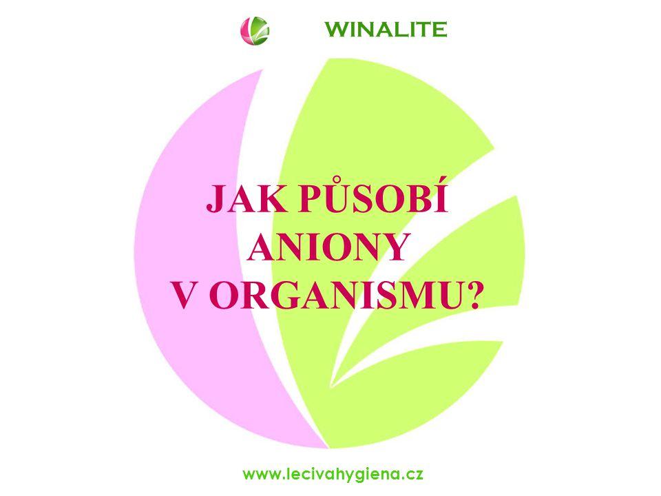 www.lecivahygiena.cz WINALITE Působení anionů je mnohasměrné