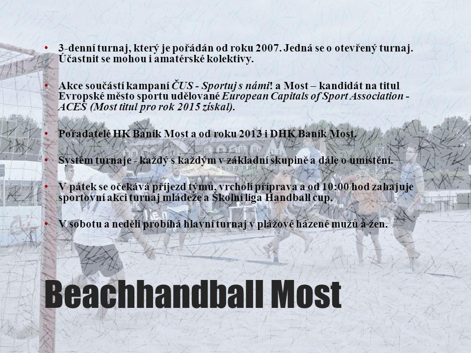 Beachhandball Most 3-denní turnaj, který je pořádán od roku 2007. Jedná se o otevřený turnaj. Účastnit se mohou i amatérské kolektivy. Akce součástí k