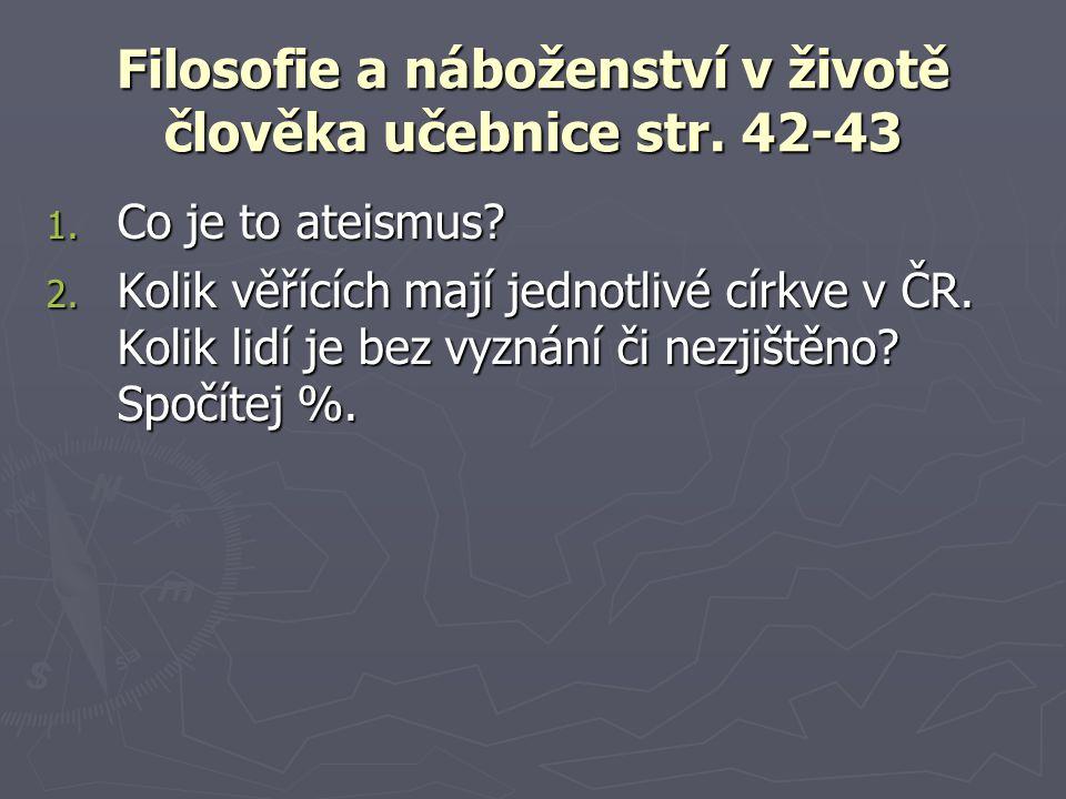 Filosofie a náboženství v životě člověka učebnice str.