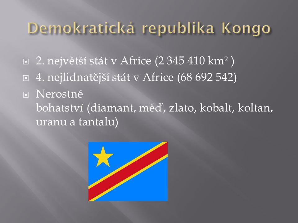 2.největší stát v Africe (2 345 410 km² )  4.