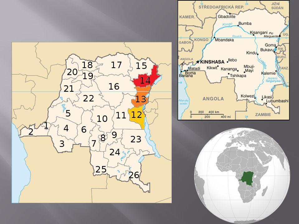 """ Původně bylo teritorium osidlováno africkými kmeny  Hlavní zájem o Kongo až s koloniálním rozšiřováním  Území uděleno nezávislé osobě – Belgickému králi Leopoldovi  Belgické Kongo  1960 bylo Kongu udělena nezávislost  1960-1965 období politické nestability (2 tábory)  nový """"hráč na scéně Joseph Mobutu  """"mobutismus  Republika Zaire"""