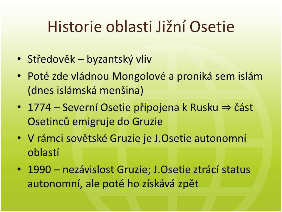 Charakteristika konfliktu v J.Osetii Název konfliktu: Gruzínsko-osetinský konflikt (popř.