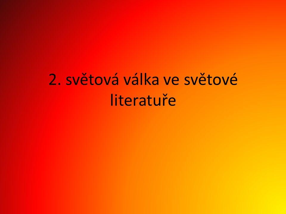 2. světová válka ve světové literatuře
