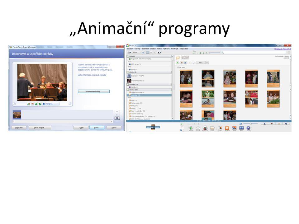 """""""Animační"""" programy"""