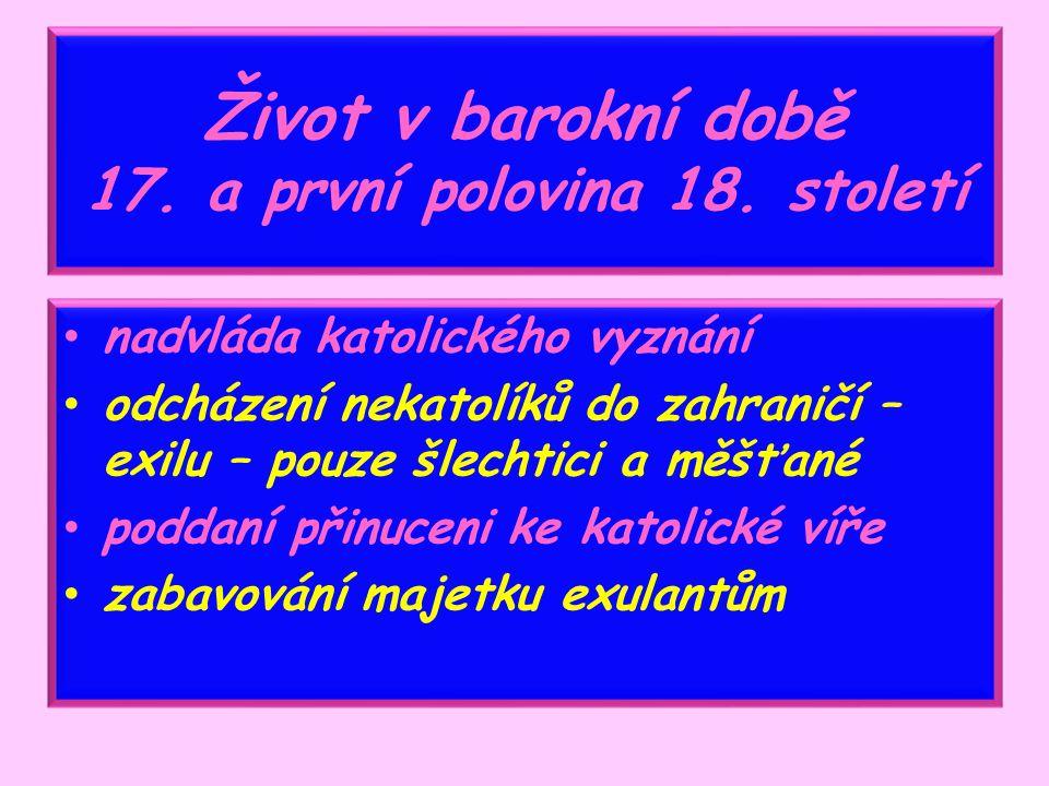 BAROKO Mgr. Miloslava Pucandlová ZŠ Sadová, 1756, Čáslav Vlastivěda 5. ročník