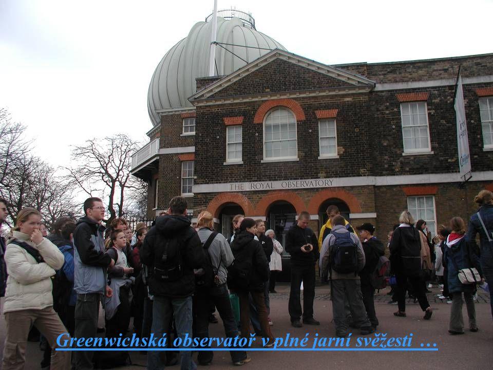Greenwichská observatoř v plné jarní svěžesti …