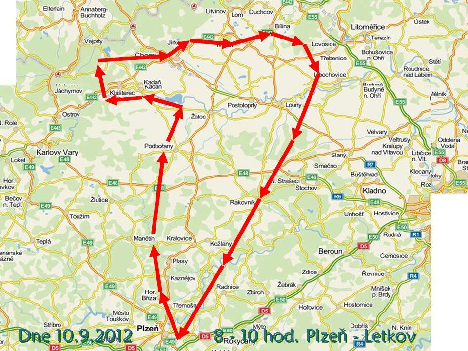 Letadlo EUROSTAR V pondělí 10.9.2012 jsme uskutečnili let z Plzně na sever Čech