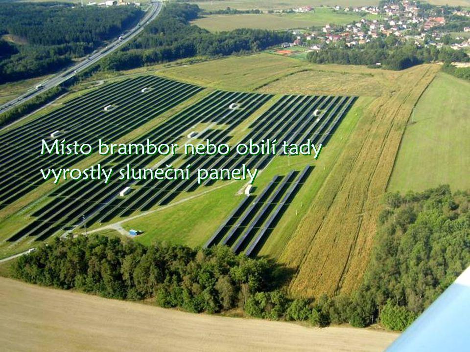 Již vidíme solární elektrárnu u Letkova