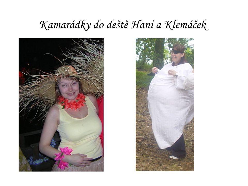 Kamarádky do deště Hani a Klemáček