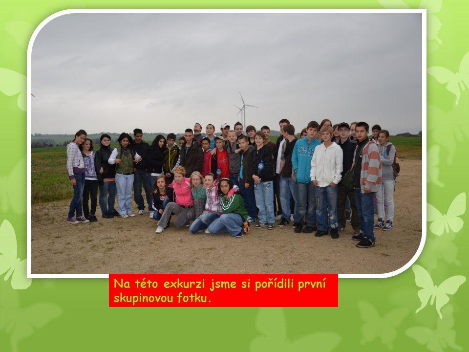 Na této exkurzi jsme si pořídili první skupinovou fotku.