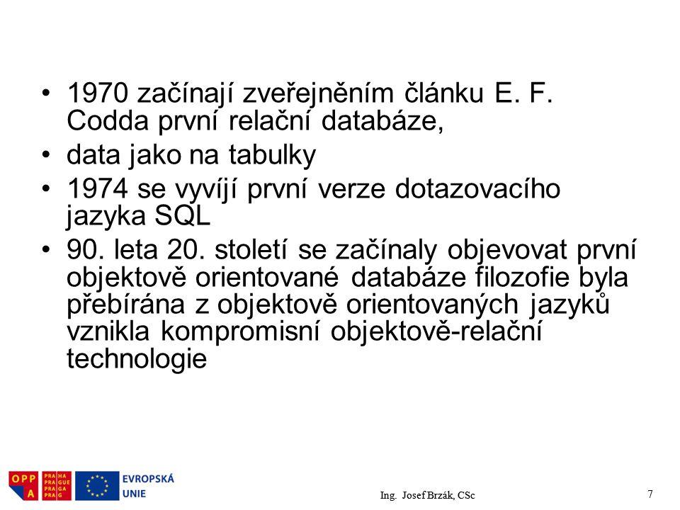 7 1970 začínají zveřejněním článku E.F.
